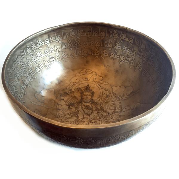 Cuencos Tibetanos Grabados Antiguos